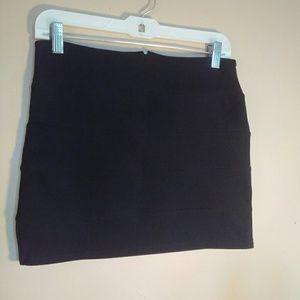 Mandee Small Black Stretchy Mini Skirt